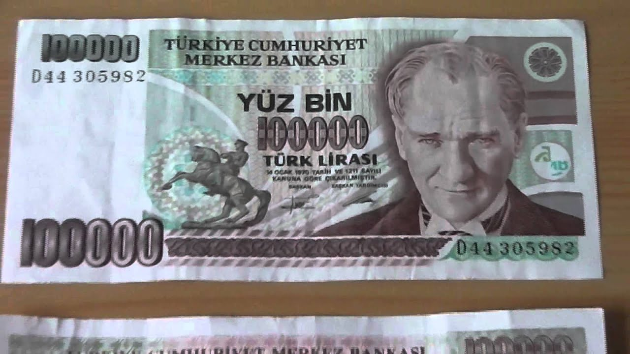 The Old Yüz Bin Papermoney Banknote