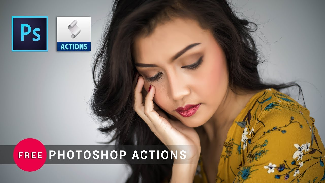 Photoshop cc Tutorial: Free Photoshop Action For your Beauty Retouch