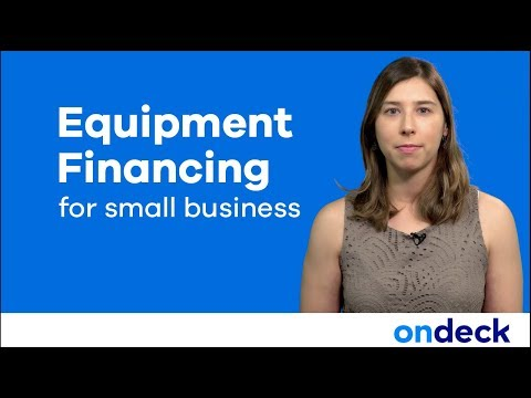 Equipment Financing For Small Business