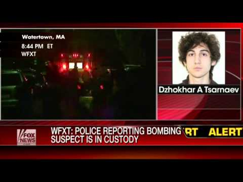 Breaking News: Boston bombing suspect in custody - YouTube