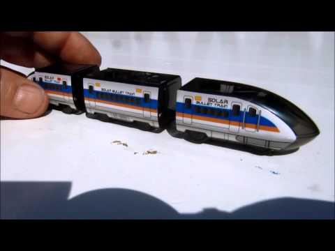 Solar Powered Bullet Train Set