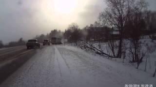 ДТП с автобусом с. Выльгорт, март 2014