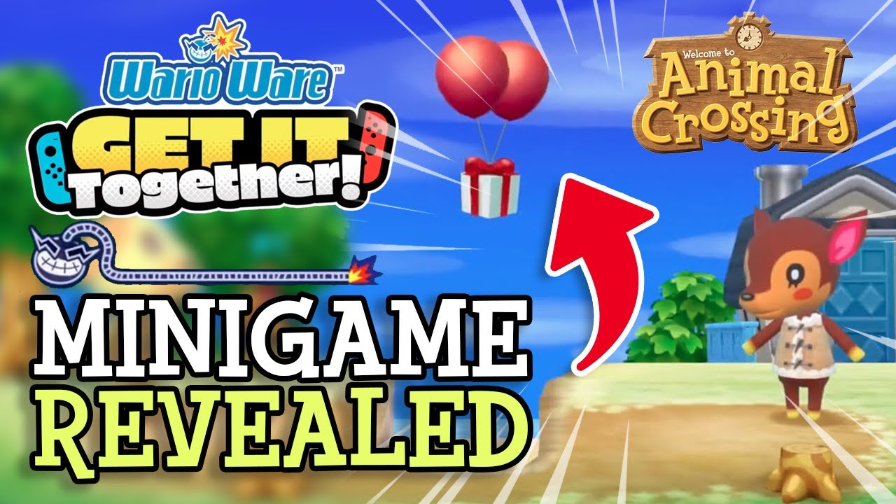 Animal Crossing MINIGAME REVEALED for WarioWare (Nintendo E3 2021 Details) New AC Stage Confirmed