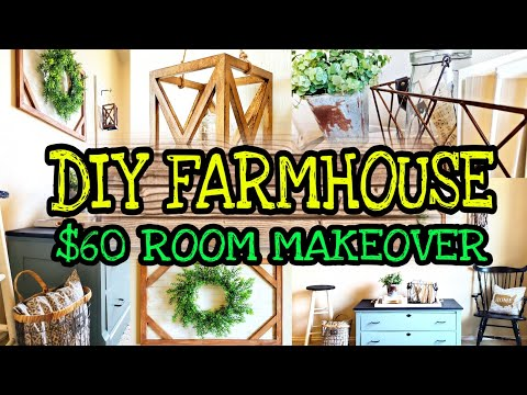 DIY Farmhouse Decor on a Budget / Trash to Treasure Thrift Makeover