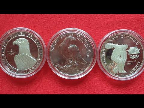 1984 LOS ANGELES OLYMPICS USA Silver Dollar - США Доллар 1983,1984 Олимпиада Лос Анджелес