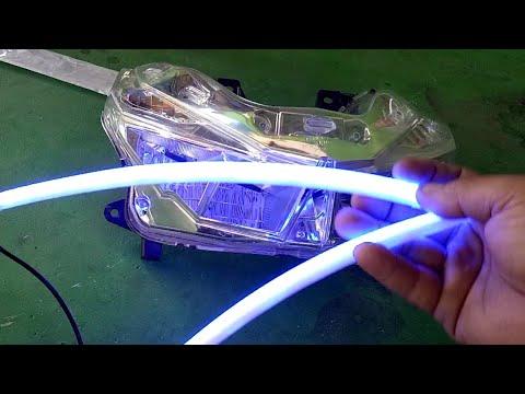 Wow!! Tampil Beda Pasang Sendiri Lampu Alis Pada Motor U
