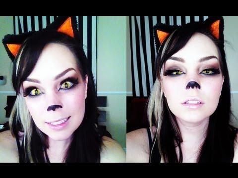 Cute Kitty Halloween Makeup Tutorial! - YouTube