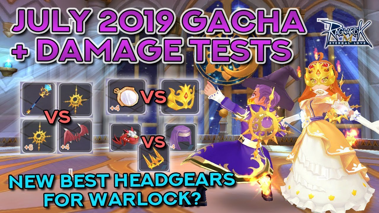 NEW BEST HEADGEAR FOR WARLOCK! July 2019 Gacha Damage Test!!