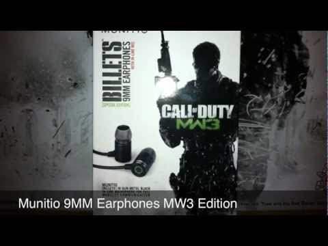 Munitio Billets 9MM Earphones [Call Of Duty MW3 Edition]