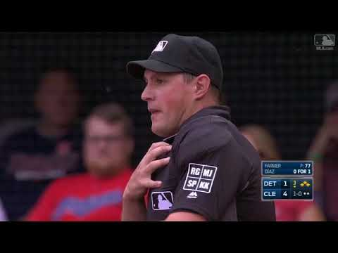Tigers Intentionally Hit Umpire Quinn Wolcott with Pitch