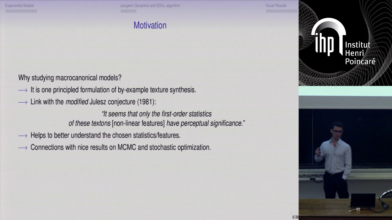 Maximum Entropy Models for Texture Synthesis - Leclaire - Workshop 2 - CEB  T1 2019
