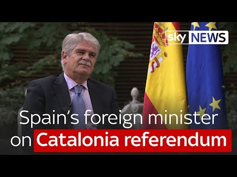 Spain's foreign minister: Catalonia referendum 'won't go ahead'