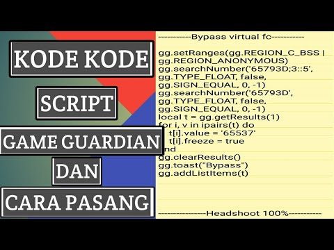 Kumpulan kode script game guardian cheat free fire