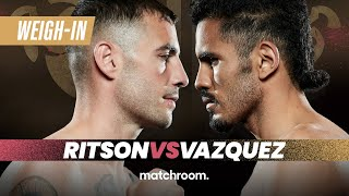 Lewis Ritson vs Miguel Vazquez plus undercard weigh-in