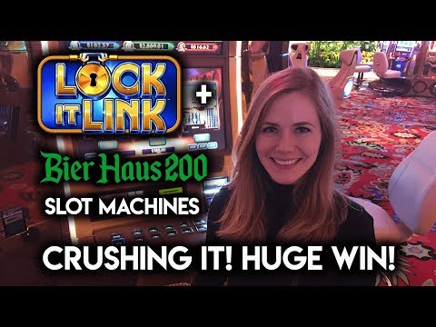 Absolutely CRUSHING Bier Haus 200 Slot Machine! Bonus HUGE Win!!!