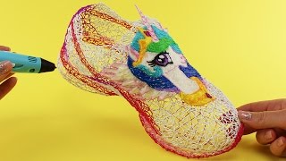 Princess Celestia Shoes Drawing with 3D Pen! My Little Pony Video for Kids