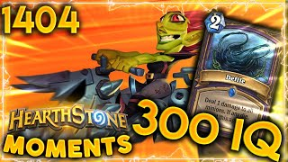 This Is WHAT A REAL 300 IQ DEFILE LOOKS LIKE | Hearthstone Daily Moments Ep.1404