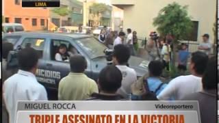 Triple asesinato en La Victoria