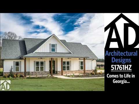 Architectural Designs Modern Farmhouse Plan 51761HZ Comes to Life in Georgia!