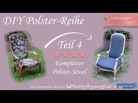Einen Aufwendigen Sessel Selber Polstern ★ Das Große Polster-Tutorial TEIL 4