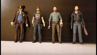 The Walking Dead 2018 15th Anniversary Rick Grimes Four Pack Review