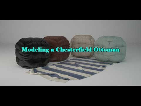 Creating a Marvelous Designer Chesterfield Ottoman