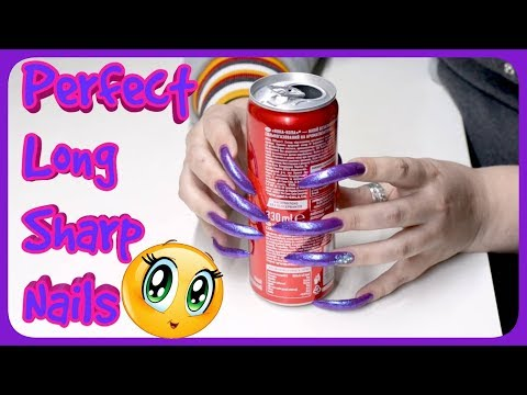 INCREDIBLE ASMR video! LONG SHARP NAILS CUT ALUMINUM CAN!  Perfect SOUNDS  and  wonderful  TRIGGERS!