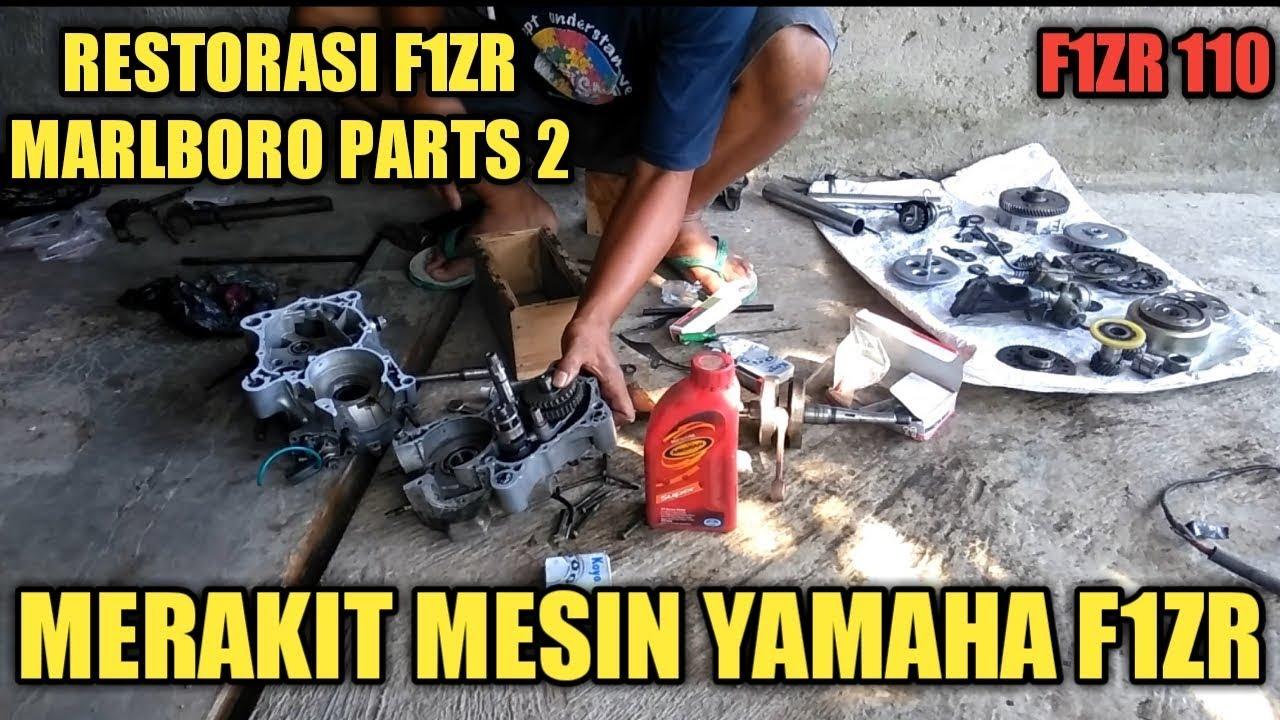 MERAKIT MESIN F1ZR MARLBORO 2000 RESTORASI PARTS 2 - YouTube