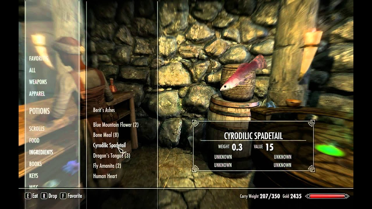 skyrim how to learn alchemy recipes youtube
