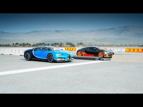 2018 Bugatti CHIRON vs Bugatti VEYRON Super Sport Drag Race! Forza 7