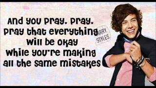 Same Mistakes - One Direction (Lyrics With Pictures)