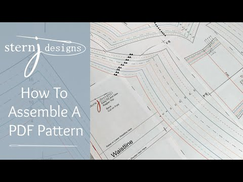How To Assemble PDF Pattern