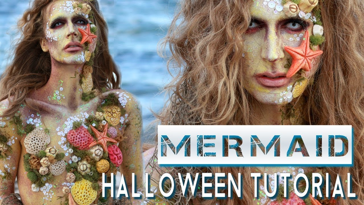 Mermaid siren halloween costume makeup tutorial youtube mermaid siren halloween costume makeup tutorial baditri Gallery