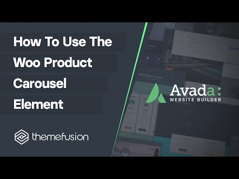How To Use The Woo Product Carousel Element Video