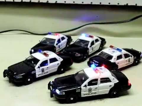 5 Custom 1 32 Scale Minneapolis Police Cars With Strobes And