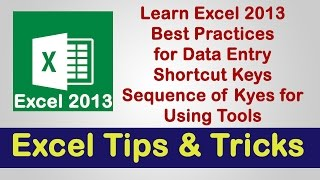 Excel 2013 | Best Practice, Tips & Tricks | Veer Tutorial