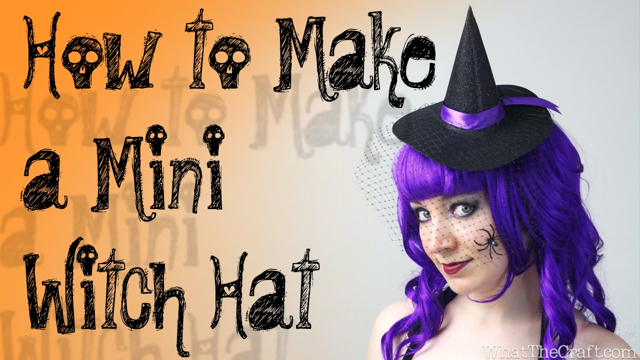 Diy Halloween Tutorial How To Make A Mini Witch Hat Youtube