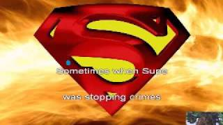 Superman song - Crash Test Dummies - Karaoke