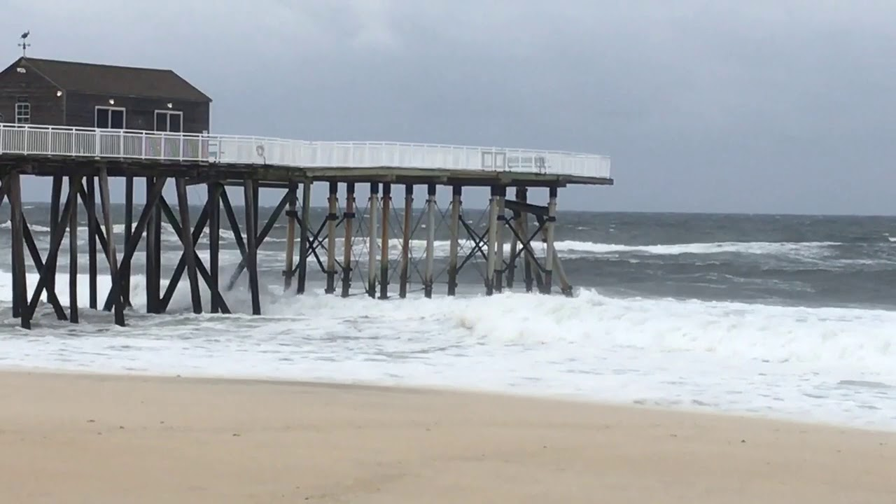 Belmar fishing pier damaged by storm youtube for Belmar nj fishing