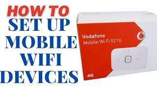 portable mobile broadband / mobile wifi setup guide vodafone R207-R208