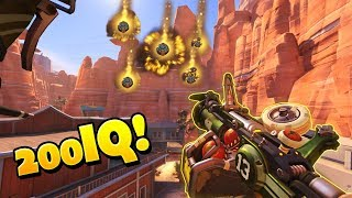 RARE 200IQ Junkrat Trick..! - Overwatch Funny Moments & Best Plays 34