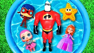 Learn Colors with Super Heroes, Pj Masks, The Incredibles, Barbie and Paw Patrol