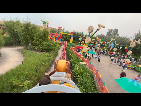 Slinky Dog Dash Roller Coaster POV Filmed With IPhone 11 Pro Max, Disney Hollywood Studios