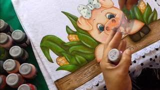 Dicas de como pintar cerca de madeira com stencil, com Artes da Ju Baby