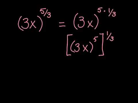 Convert a Rational Exponent to Radical Form - YouTube