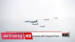 Two U.S. B-1B bombers in joint exercise with S. Korea