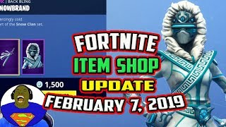 FORTNITE ITEM SHOP UPDATE TODAY *NEW* SNOWSTRIKE SKIN, HIGHLAND WARRIOR, SNOWBLADED FEBRUARY 7, 2019