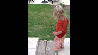 My new potty training dilemma- My daughter prefers the backyard over the potty