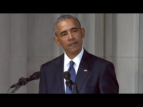 Former President Barack Obama honors Sen. John McCain Mp3