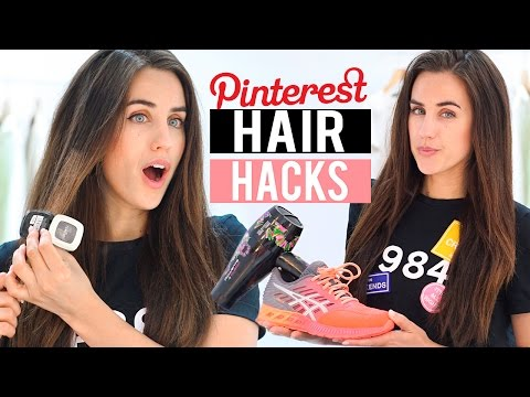 PROBANDO 6 TRUCOS PARA EL CABELLO DE PINTEREST | Pinterest HAIR hacks tested